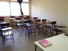 Un'aula del RUCU, l'università cattolica di Iringa.