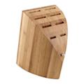 Il ceppo portacoltelli in bambù, per la cucina di chi ama i propri coltelli.