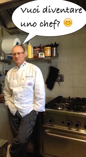 L'executive chef Francesco de Francesco in un ristorante che riorganizzò anni fa per conto di un allievo del suo corso per chef.