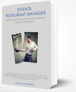 La copertina del libro Diventa Restaurant Manager.
