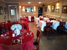 La sala del ristorante avviato a Miami, il Côté Gourmet.