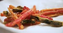Verdure fritte in pastella leggerissima.