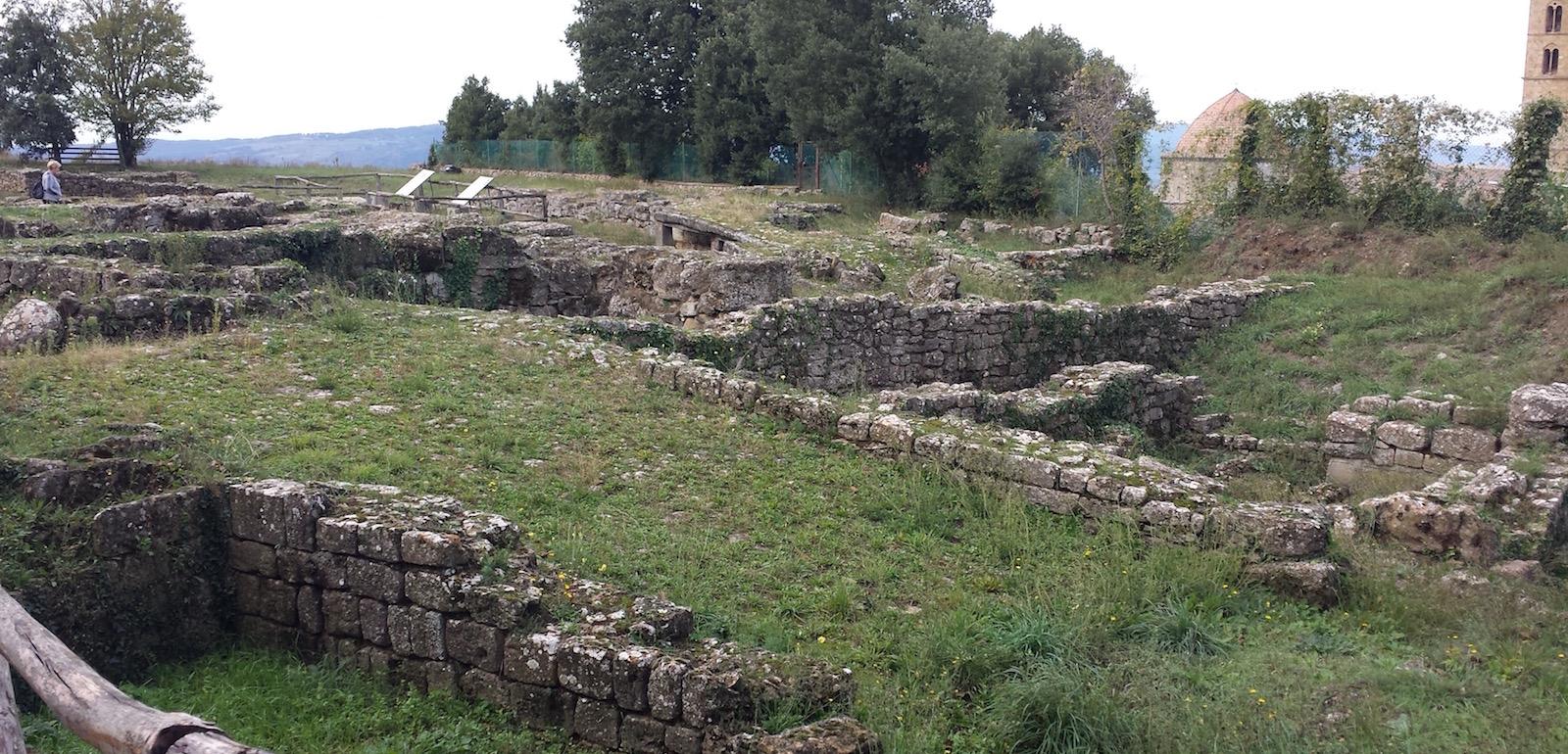 L'antica acropoli etrusca di Volterra.
