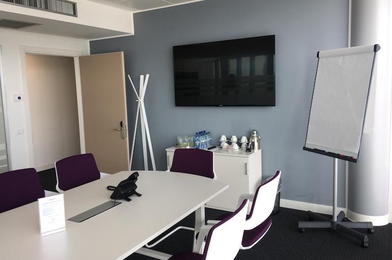 L'aula di Regus a Verona dove si svolge il corso di gestione dello stress.