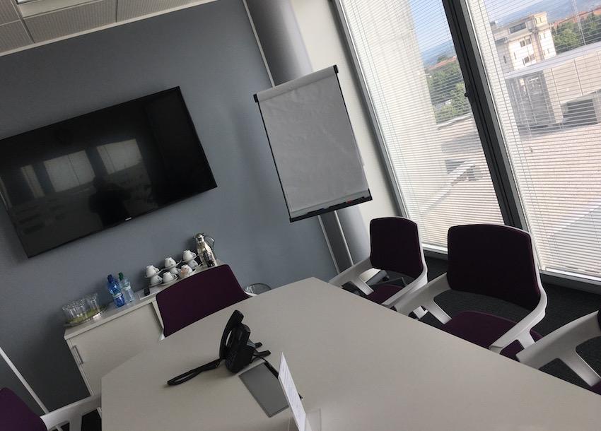L'aula dove si svolge il corso marketing per la ristorazione, presso Regus a Verona.