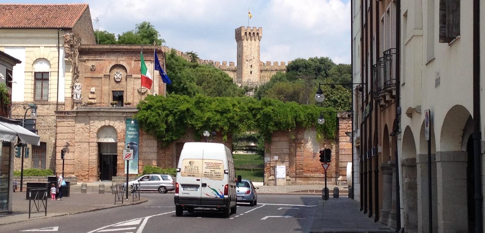 L'ingresso del Castello Carrarese di Este, città in cui l'Executive Chef vorrebbe vivere.