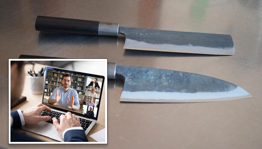 Un'ora di consulenza online sui coltelli da cucina, dopo il corso.