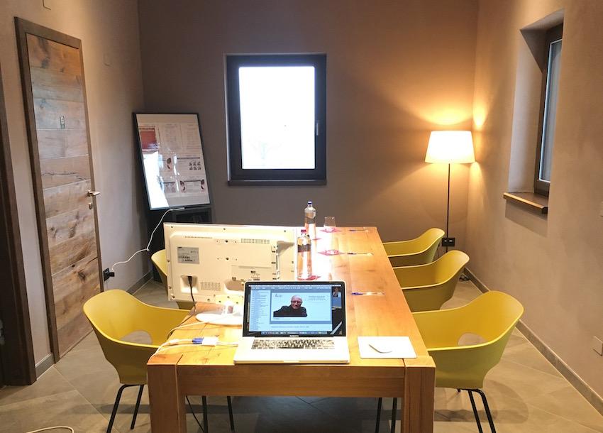 La saletta del ristorante Silene dove ho tenuto un corso di marketing della ristorazione in versione personalizzata, proprio per la gestione del Covid19.