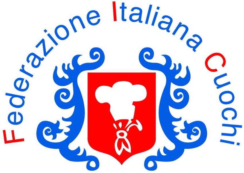 Il logo della Federazione Italiana Cuochi, di cui faccio parte.