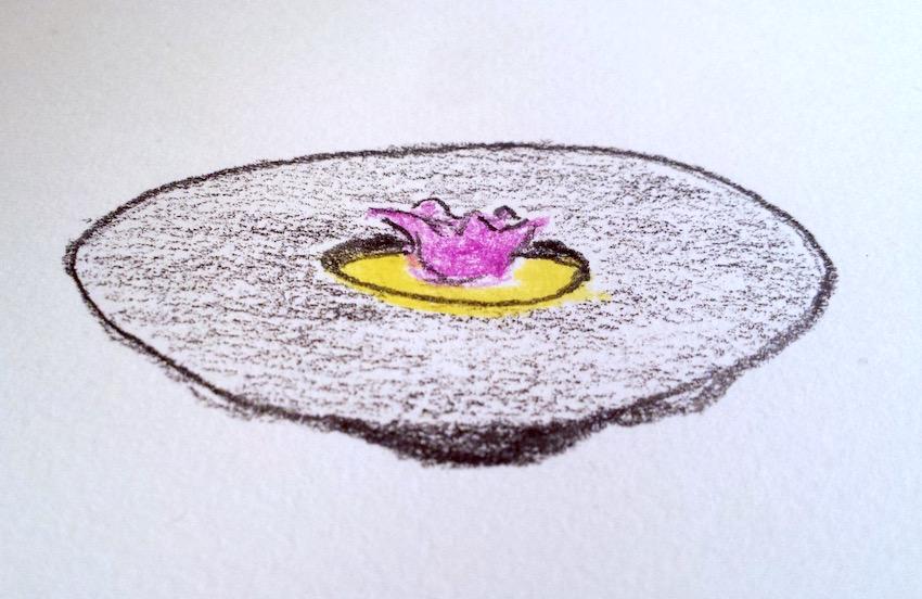 Un disegno di un piatto vegetariano che creavamo per il ristorante.