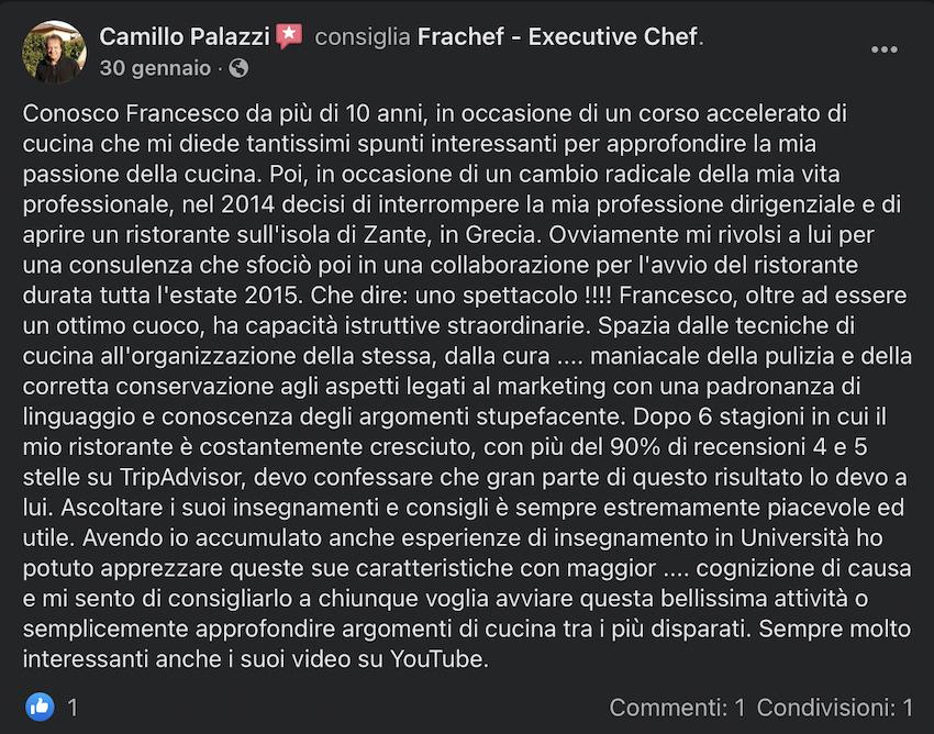 La recensione di Camillo, con cui ho avviato un ristorante.