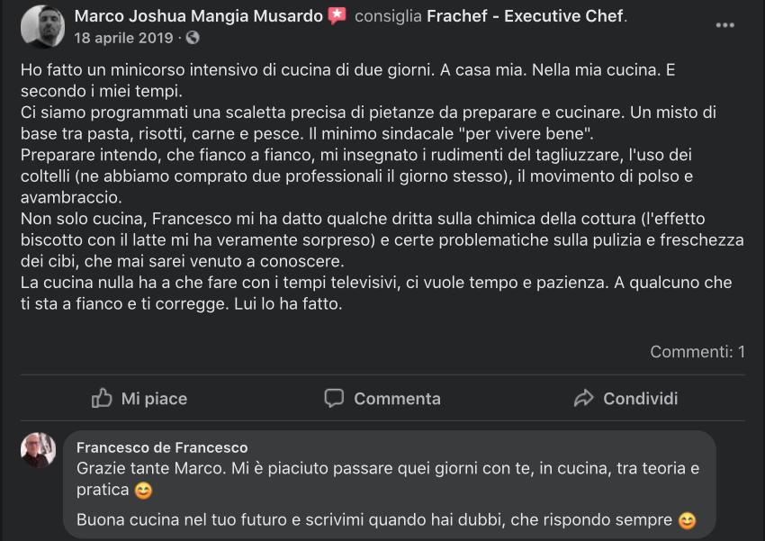 La recensione di Marco, parte proprio sui coltelli.
