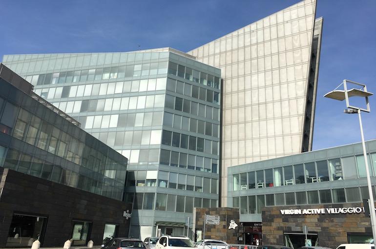 L'esterno della sede dove si svolge il corso di vendita per responsabili di sala e camerieri.