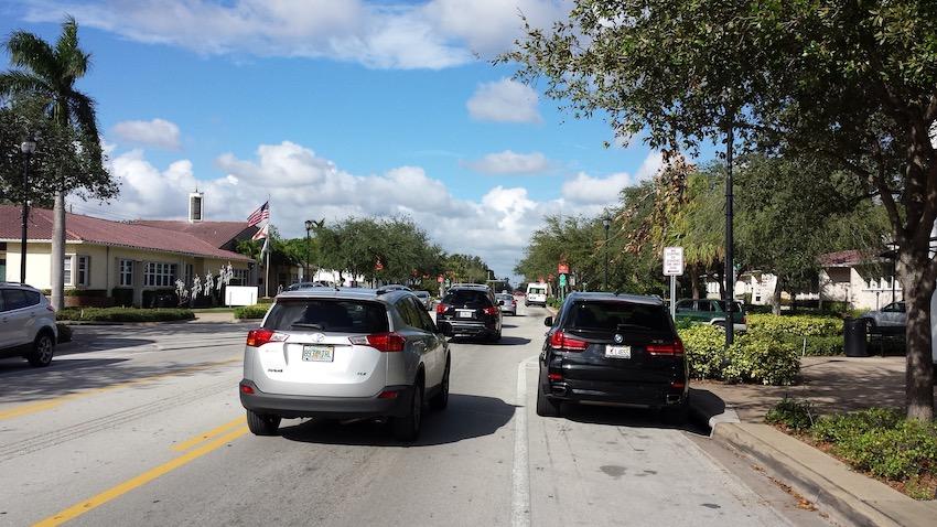 La strada di Miami davanti al ristorante che ho avviato.