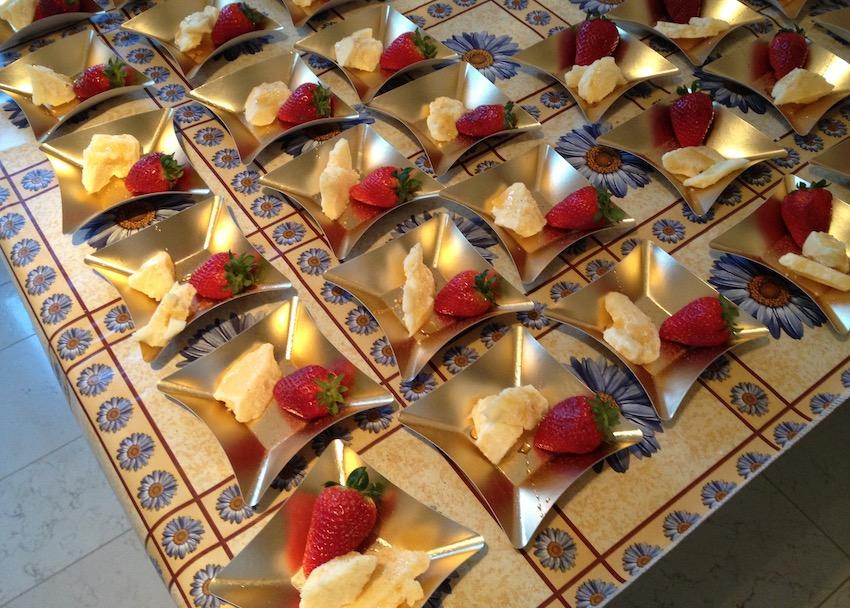 Stuzzichini ad un party in cui ho lavorato come cuoco a domicilio, a Milano.